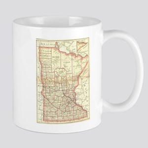 Vintage Map of Minnesota (1893) Mugs